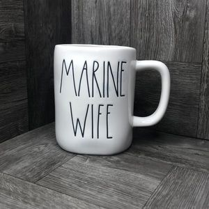 Rae Dunn MARINE WIFE mug NEW! White large letter